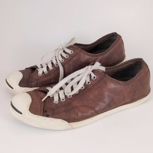 Jack Purcell Converse 10.5 Brown Leather Sneakers